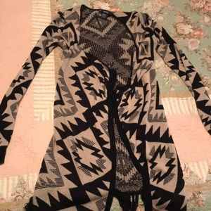 Long sleeve, long coverup sweater, small, rue21